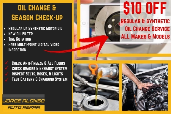 Save On Auto Repair Coupons Oceanside | Jorge Alonso Auto